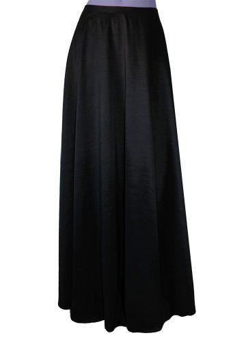 E K Taffeta Skirt Long Bridesmaid Bottom Plus Size Formal Separates Maxi Evening Outfit