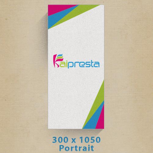tarif création bannière publicitaires verticale 300x1050px