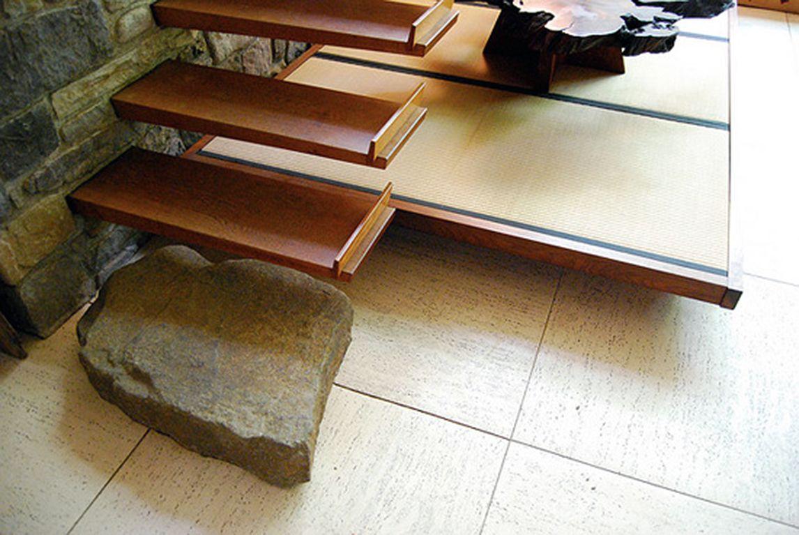 stair landing, George nakashima