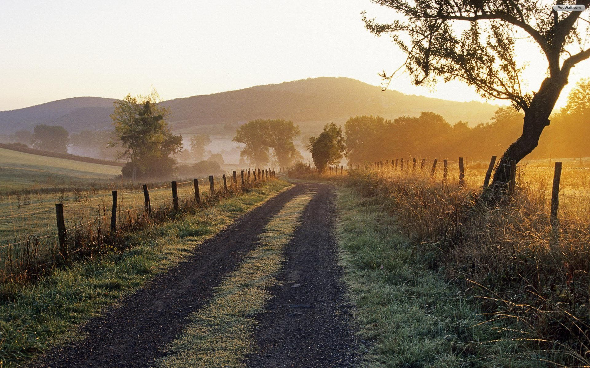Country Road Wallpaper Country Roads Scenery Country