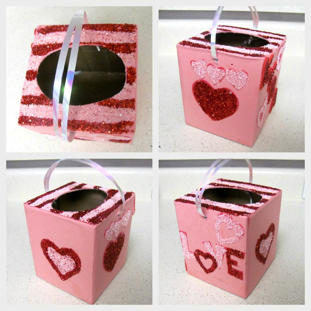 Frog Valentines Day box made from an empty Huggies wipe container – Cereal Box Valentine Card Holder