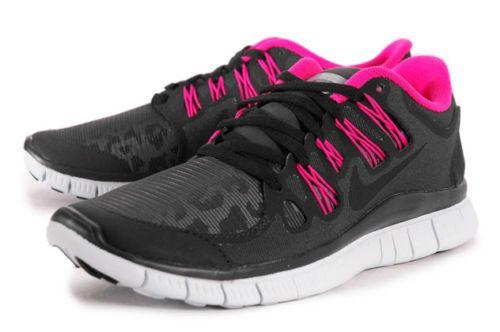 Femmes Nike Free 5.0 Chaussures De Course Bouclier Ongles Noir / Rose  collections de dédouanement choisir