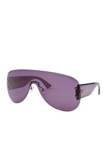 0d484f4a4ea6 Emporio Armani Men s Purple Rimless Aviator Sunglasses by Fendi   Armani   Luxury Italian Sunglasses on  HauteLook
