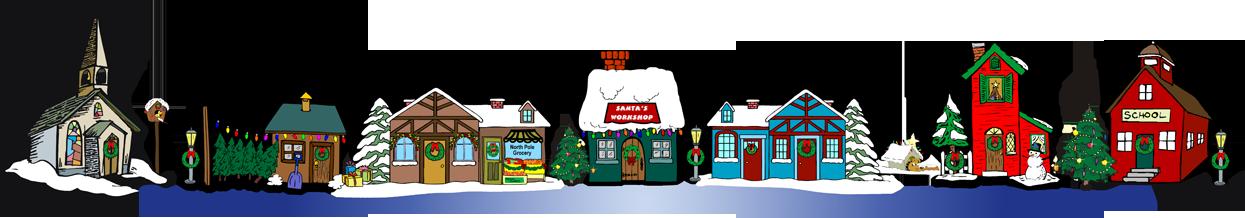 A Christmas village (or putz) is a decorative, miniature