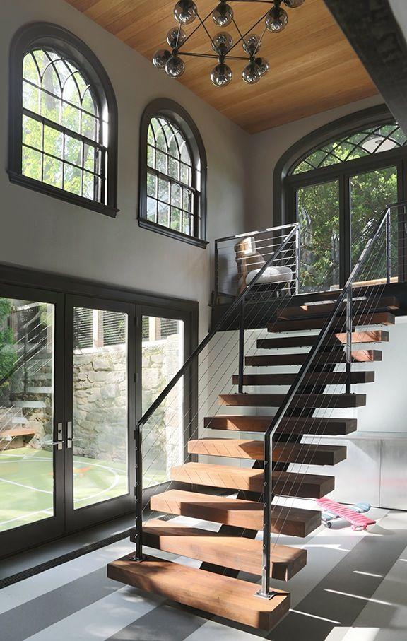 21 Bold Open Tread Staircase Designs   Modern staircase ...
