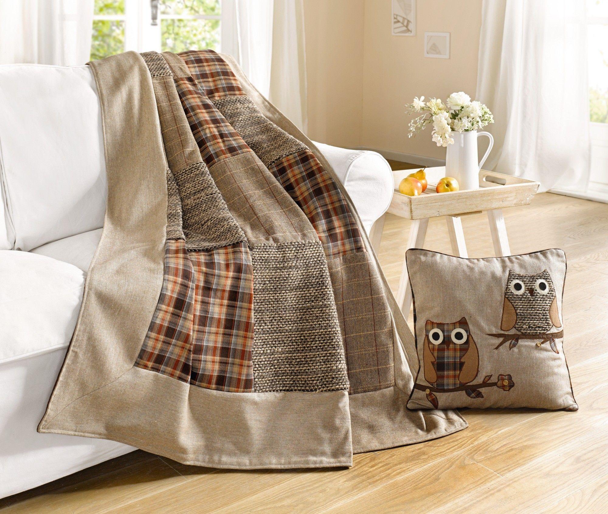 Decke mit Patchwork-Muster - Winterliches und Kuscheliges ...