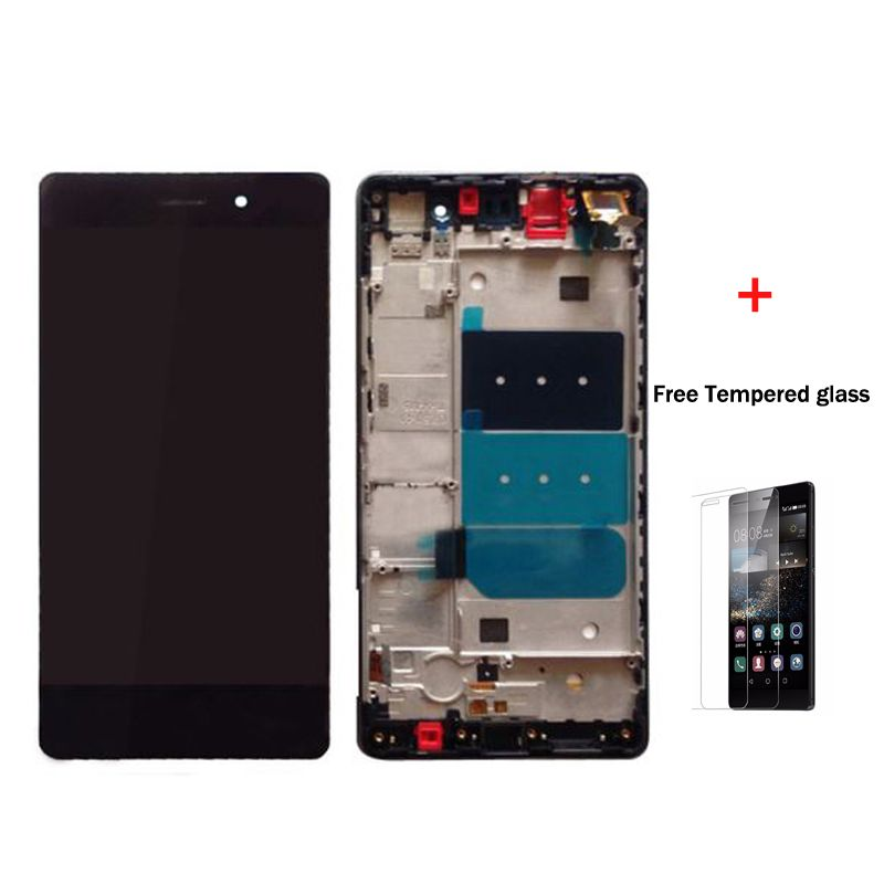 100 Original For Huawei P8 Lite Lcd Display With Touch Screen Digitizer Assembly With Frame Black White Gold Free Shipping Black White Gold