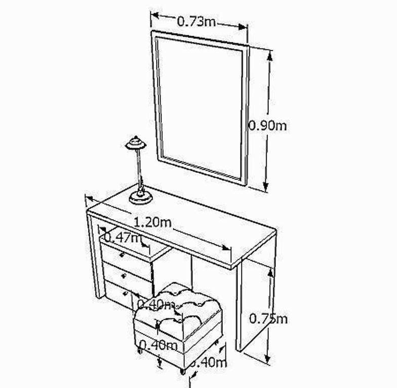 Pin By Inta Rudzate On Dimensions Drawing Furniture Dressing Table Design Standard Furniture