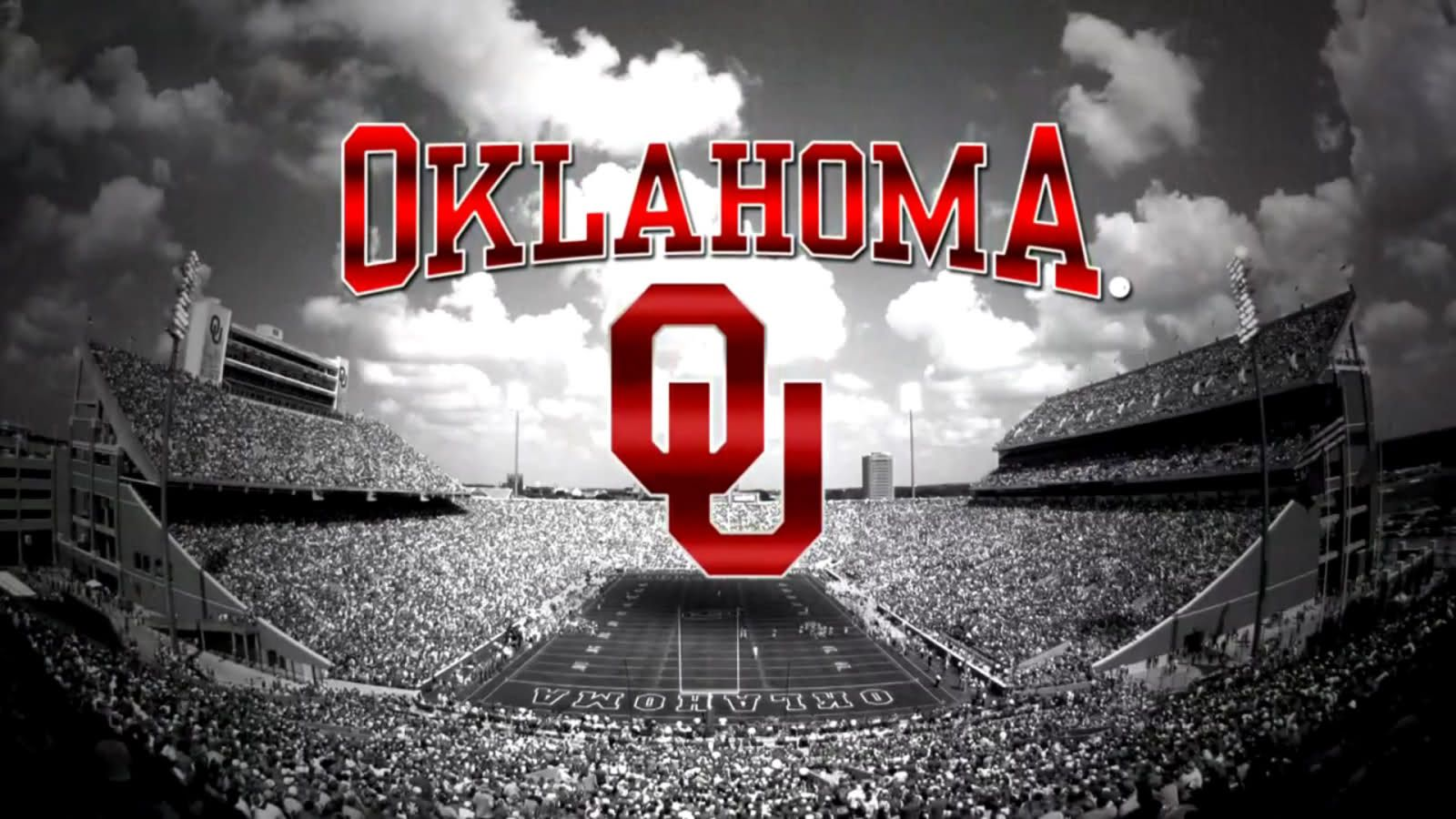 Ou Red Stadium Black White Ou Sooners Football Oklahoma Sooners Football Boomer Sooner