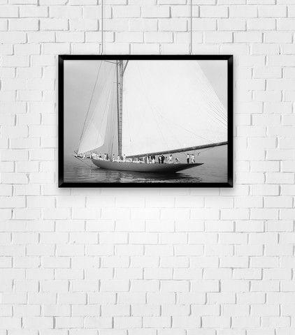 Sailboat 'Serenity' - Restored, Vintage Photographic Wall Art Print