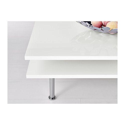 Tofteryd mesa de centro alto brillo blanco brillo for Mesas ikea 5 euros