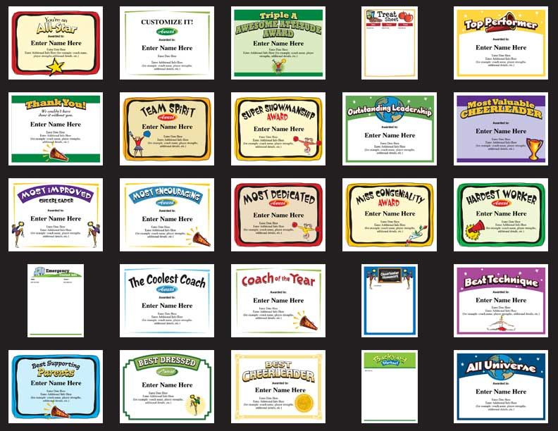 Cheerleading awards google search cheer banquet pinterest 25 cheerleading certificate templates to choose from recognize cheerleaders coaches and more yelopaper Images