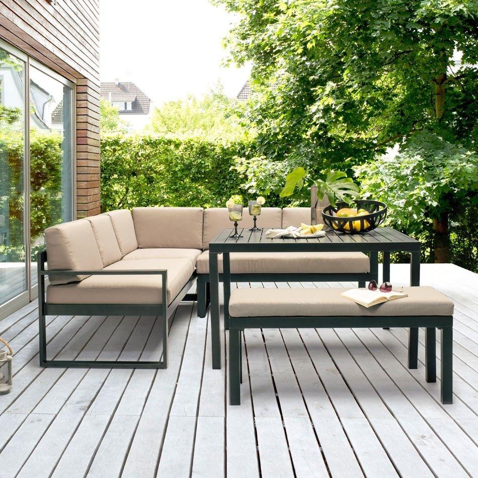 Kettler Ocean Dining Ecke Aluminium Anthrazit Taupe Garten Freizeit Aussenmobel Lounge Mobel Terasse Gartenmobel