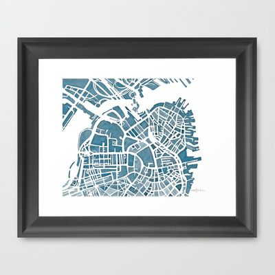 Boston blueprint framed art print by anne e mcgraw 3700 boston blueprint framed art print by anne e mcgraw 3700 malvernweather Image collections