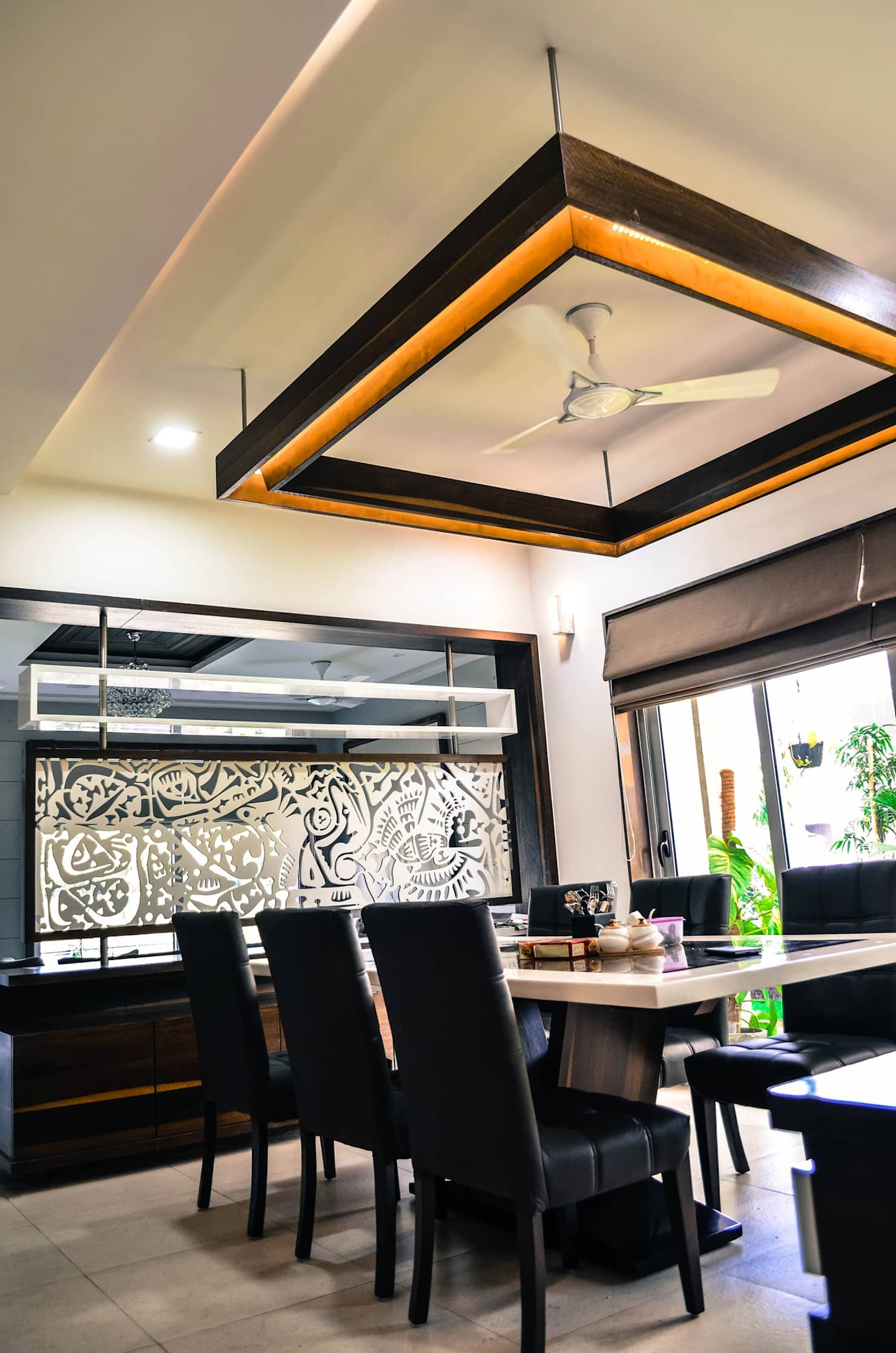Modern dining room by homify modern | Ceiling design ...