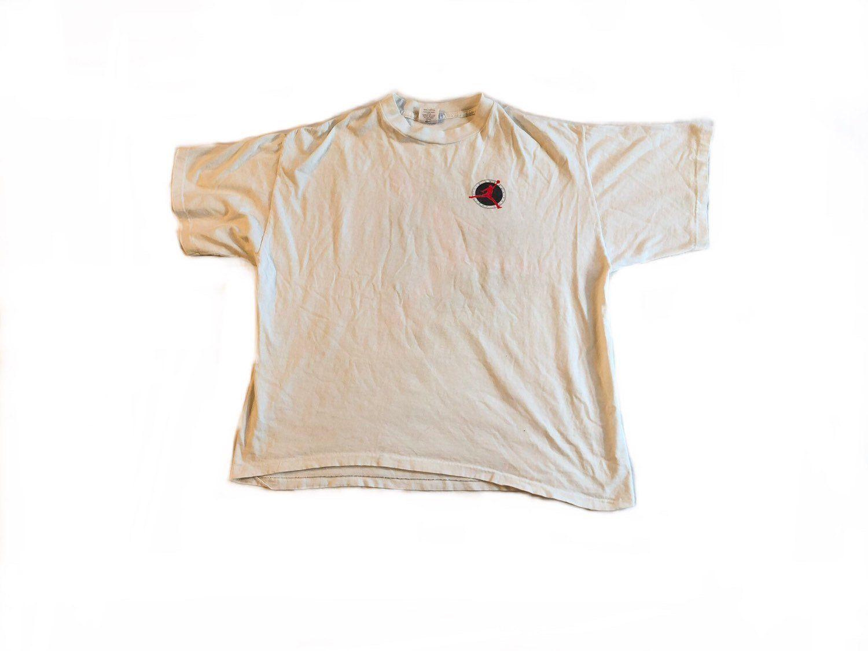 c694825447861b Nike Flight Shirt Rare VTG 90s Air Jordan Tshirt Vintage Jumpman Grey Tag  Tee Flight Club