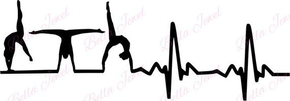 Download Gymnastic SVG, heartbeat svg, my heart beats for ...