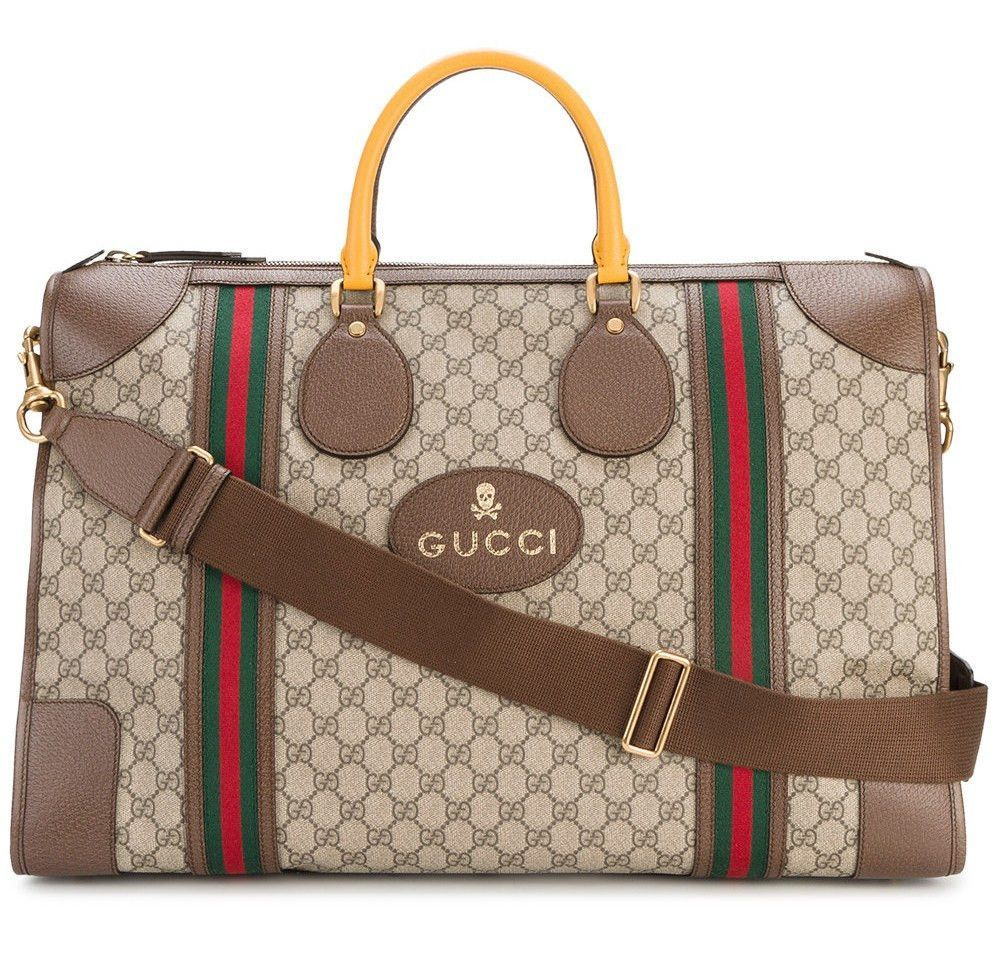 9d63ed7ca Leather Vintage Duffle Bag by Gucci   Louis Anthony Exotic Apparel ...
