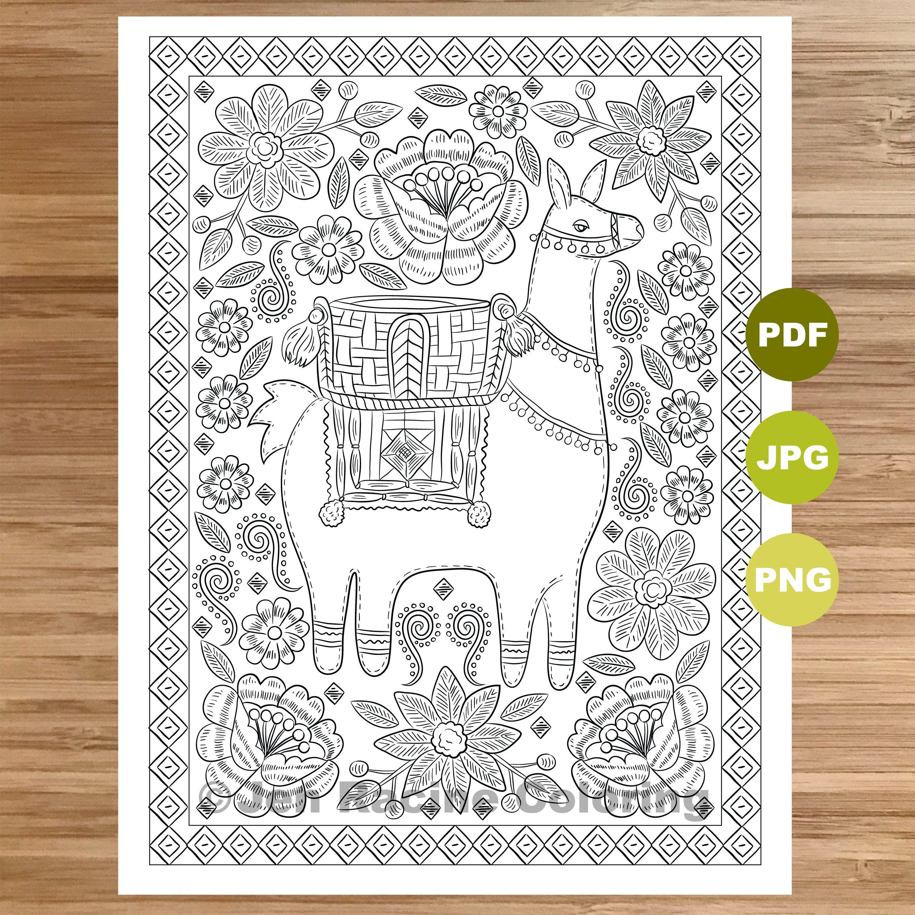 Pin On Coloriage D Animaux Animal Adult Coloring Page