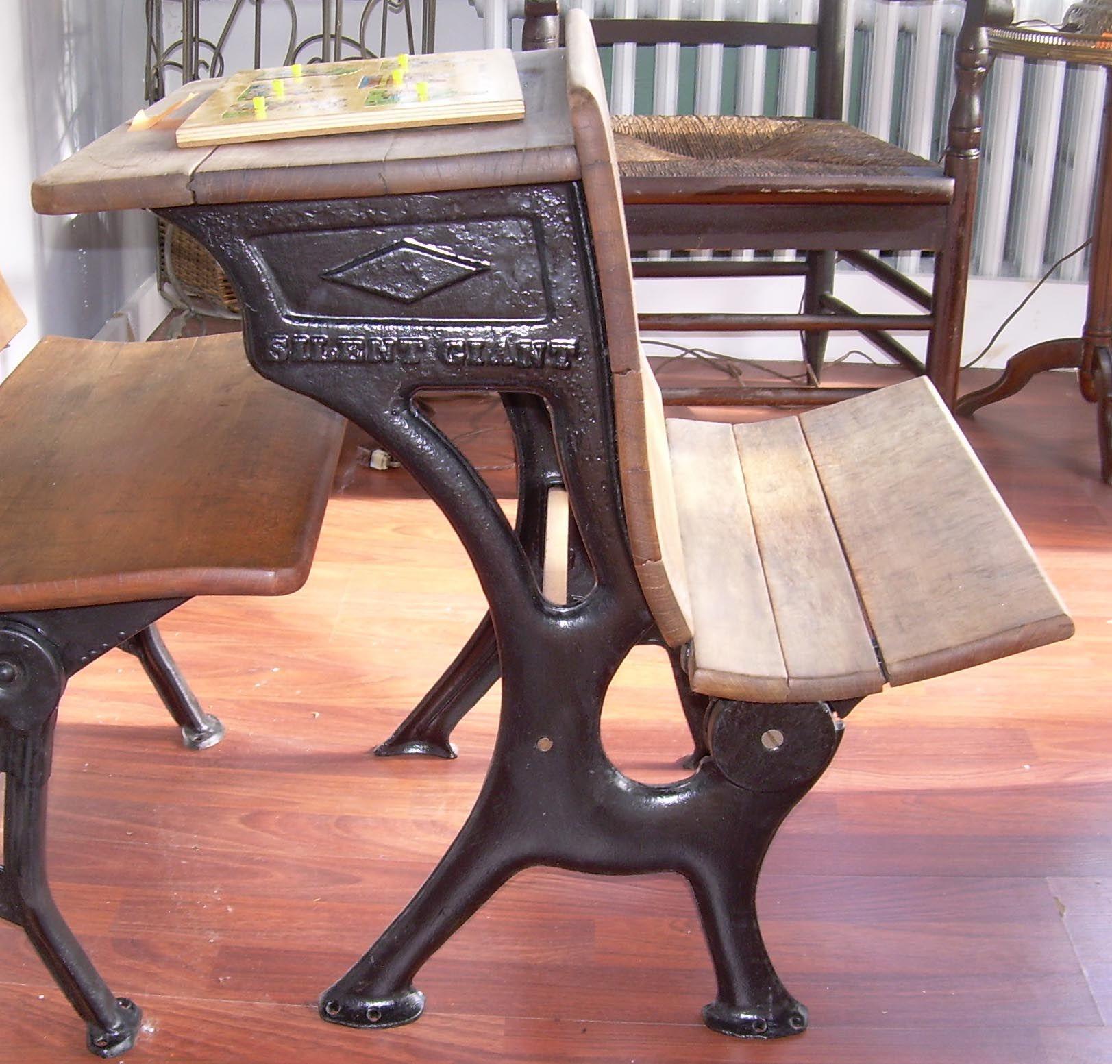 Desk wooden children s desk moulin roty furniture children s desk - A Old Time Silent Giant School Desk