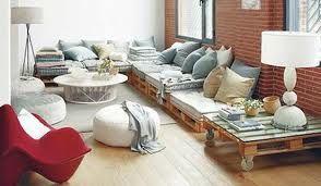 salon marocain en palettes en 2019 | Idées de meubles ...
