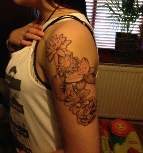 tattoo, Japanese flowers