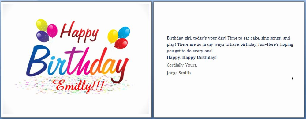 Happy Birthday Card Template Word Inspirational Ms Word Intended For Microsoft Wor In 2021 Birthday Card Template Free Free Happy Birthday Cards Birthday Card Template