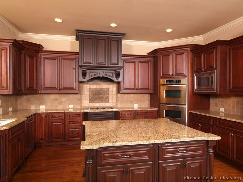 Traditional Kitchens Photo Gallery Of Kitchens Traditional Two Tone Kitchen Cherry Wood Kitchens Cherry Wood Kitchen Cabinets Cherry Cabinets Kitchen
