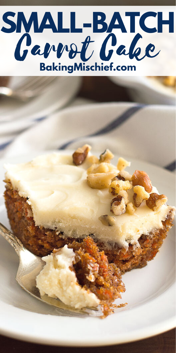 Small Carrot Cake With Cream Cheese Frosting - Bak