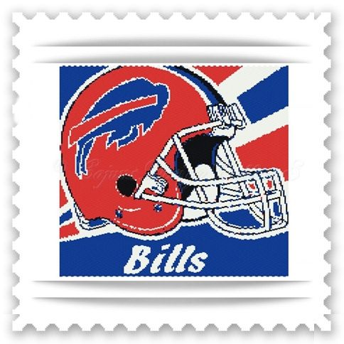 For all you,BUFFALO BILLS fans!  Thank you for your interest in my beautiful BEAD PATTERNS for beautiful tapestries.   -Peyote 2 drop FOOTBALL-SPORTS Tapestry Bead Pattern   -AVAILABLE IN THE LOOM STI