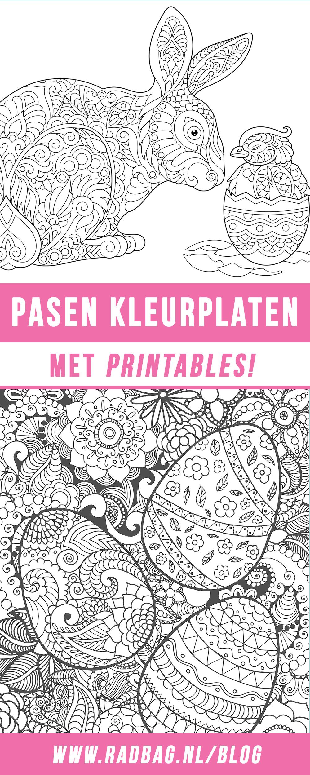 kleurplaten voor pasen met gratis printables voor jong