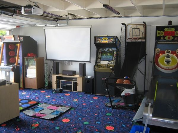 Fun And Colorful Garage Game Room