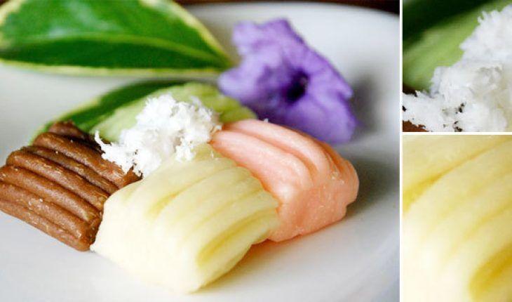 Resep Getuk Lindri Kue Tradisional Dari Bahan Singkong Matang Yang Ditumbuk Kemudian Diberi Warna Dan Dibentuk Disantap Dengan K Resep Makanan Resep Masakan