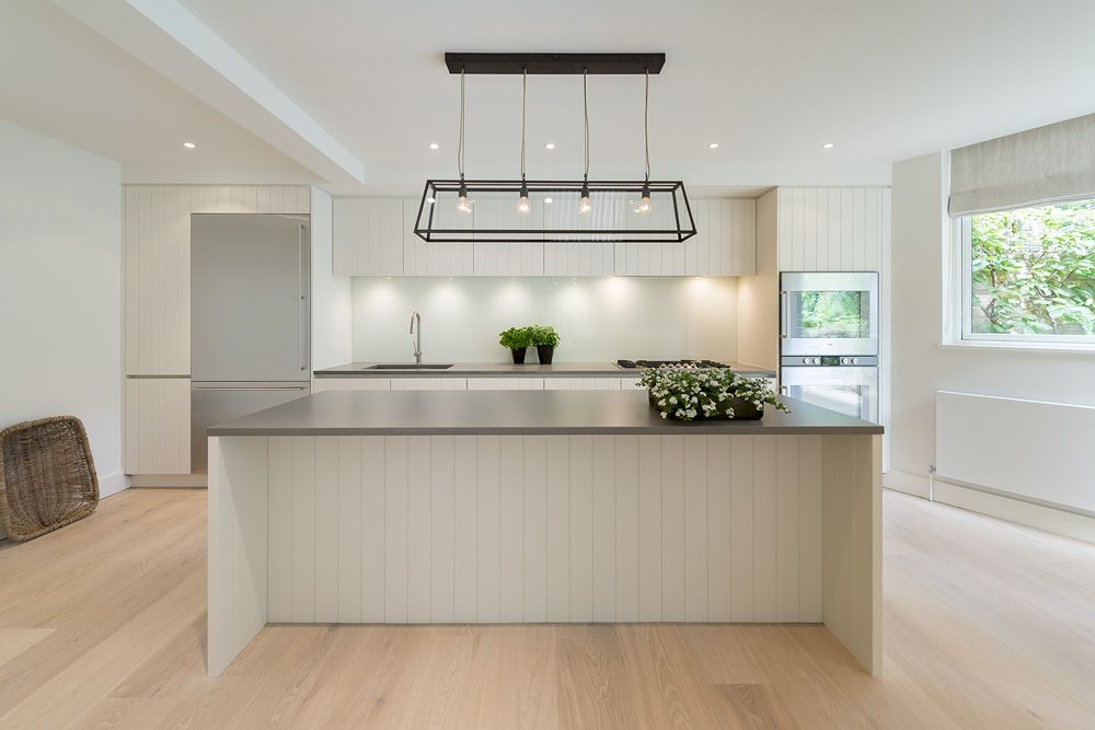 Roundhouse Urbo Groove painted bespoke kitchen | Beachmere House ...
