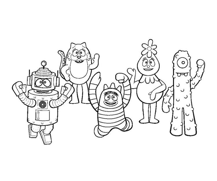 Printable Yo Gabba Gabba Coloring Pages Dinosaur Coloring Pages Coloring Pages Pokemon Coloring Pages