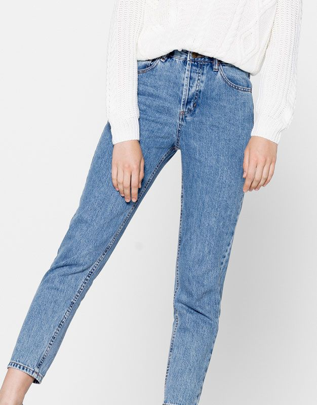 bf9eb8685dcf4 26 Jeans mom fit - Ropa - Novedades - Mujer - PULL BEAR España ...