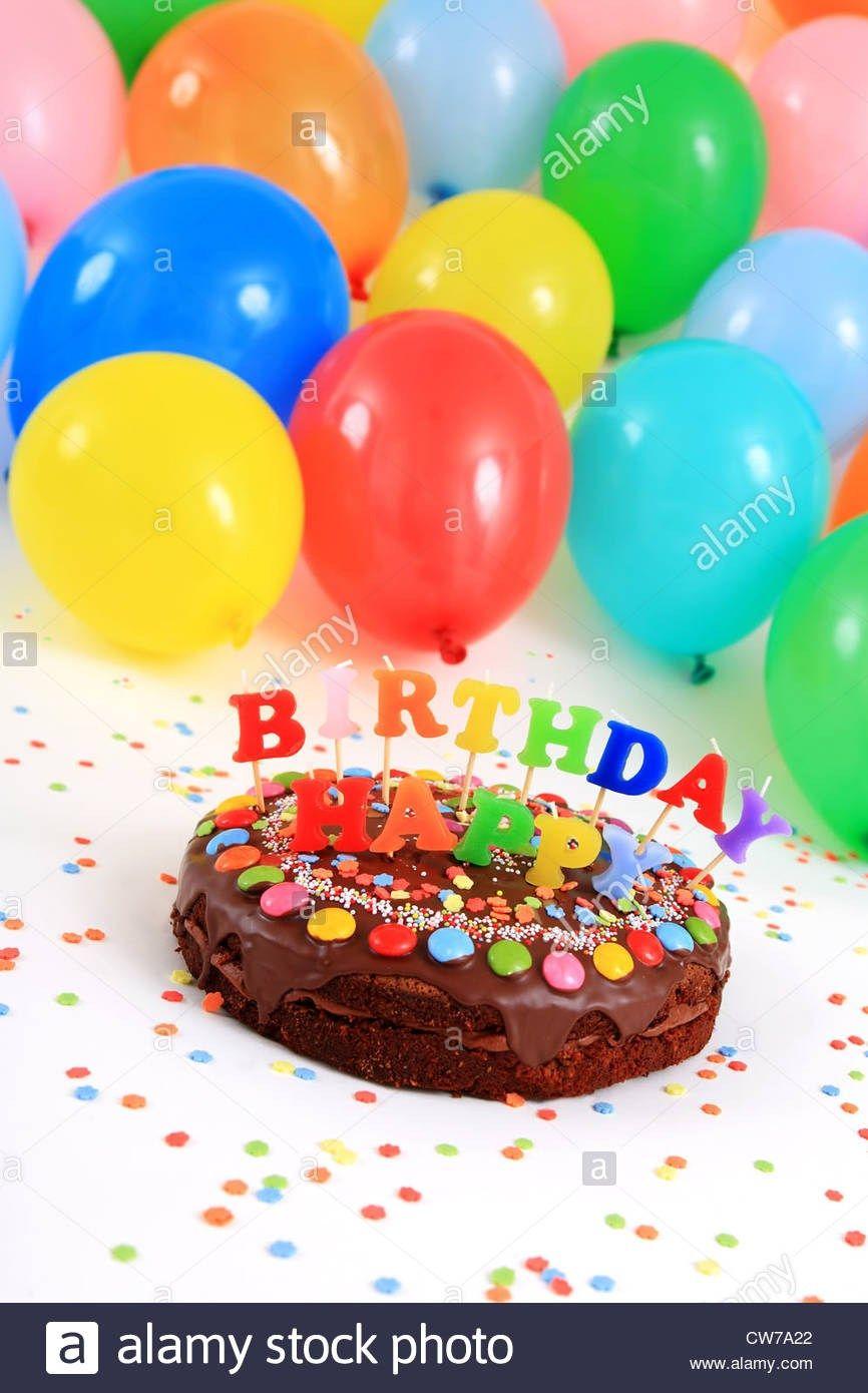 30+ Elegant Photo of Birthday Cake And Balloons birijus