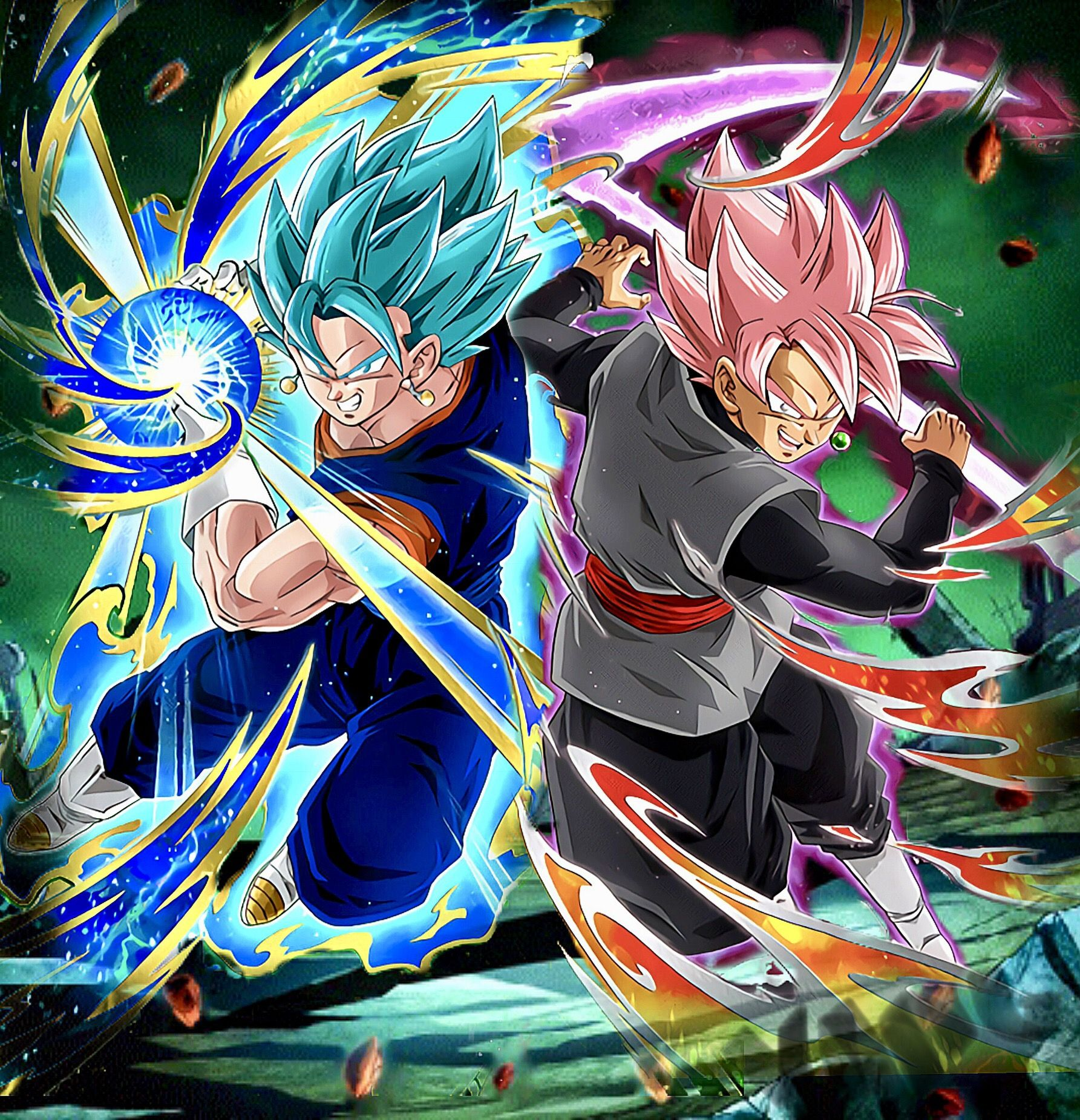 Vagetto blue v goku black ros edits dragon ball - Dbz fantasy anime ...