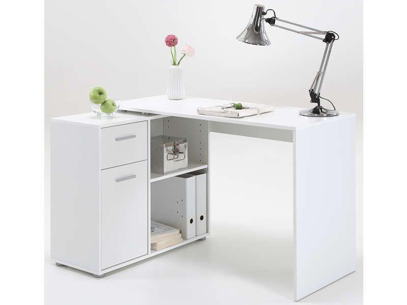Bureau desks for Bureau pin massif blanc