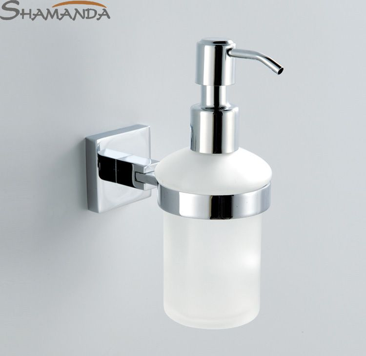 Free Shipping Wall Soap Dispenser Brass Base With Chrome Finish+ ...