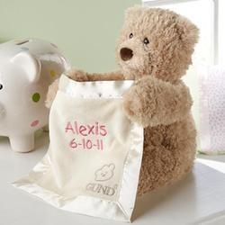 Personalized Animated Peek-a-Boo Bear