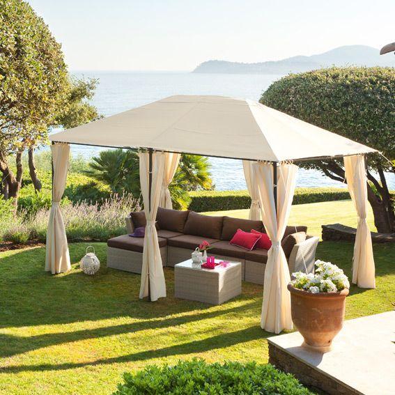 Toile De Tonnelle Santorini 3 X L4 M Ecru Tonnelle Jardin Pergola Mobilier De Jardin Design