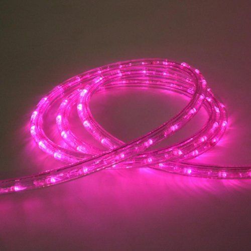 Pink 18 ft 110v 120v 2 wire 12 led rope light christmas lighting pink 18 ft 110v 120v 2 wire 12 led rope light mozeypictures Gallery