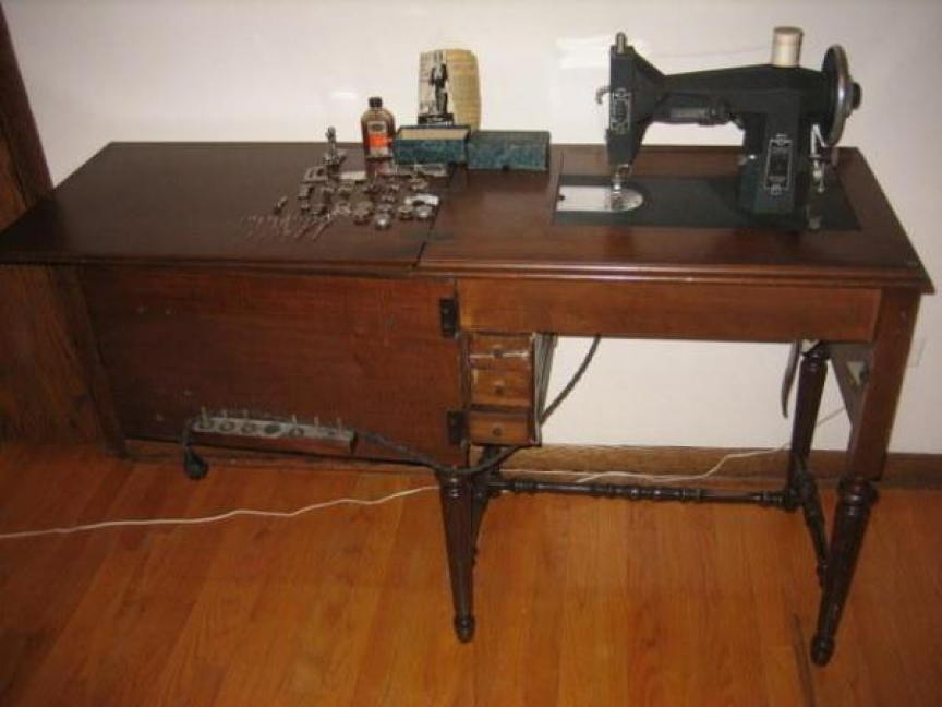 Vintage Kenmore Sewing Machine 40 Era EBay PinPin Best Kenmore Sewing Machine Cabinet Ebay