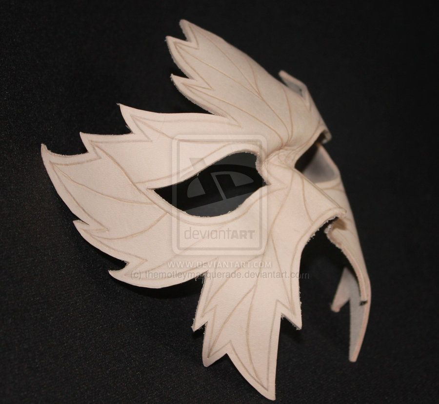 Unstained Leather Leaf Mask by ~themotleymasquerade on deviantART