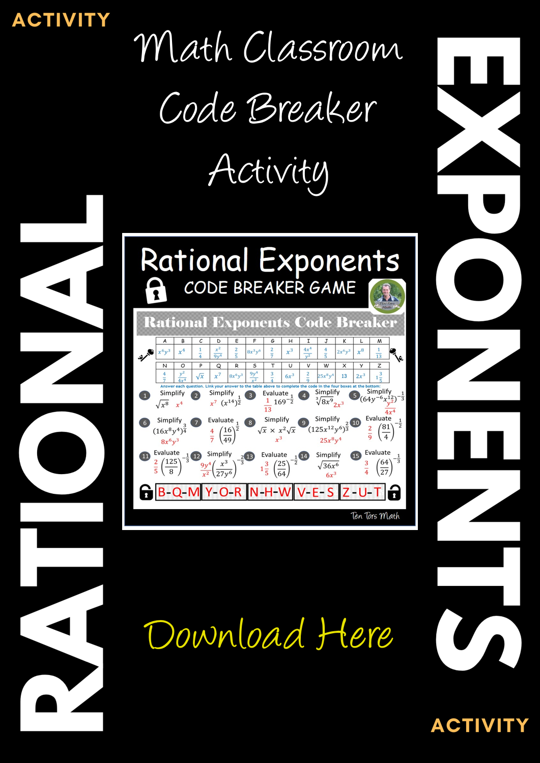 Rational Exponents Activity In With Images