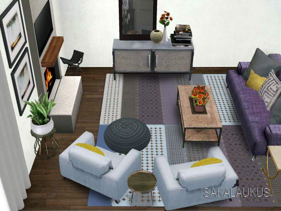Sakalaukus Interior Designs Concept: Bird's Eye View