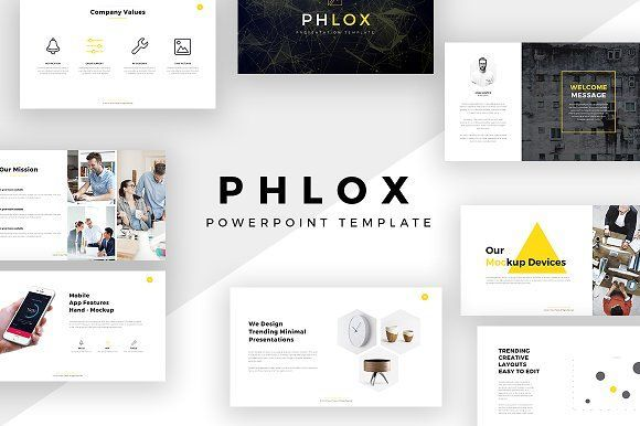 Phlox Minimal PowerPoint Template | Layout design, Template and ...