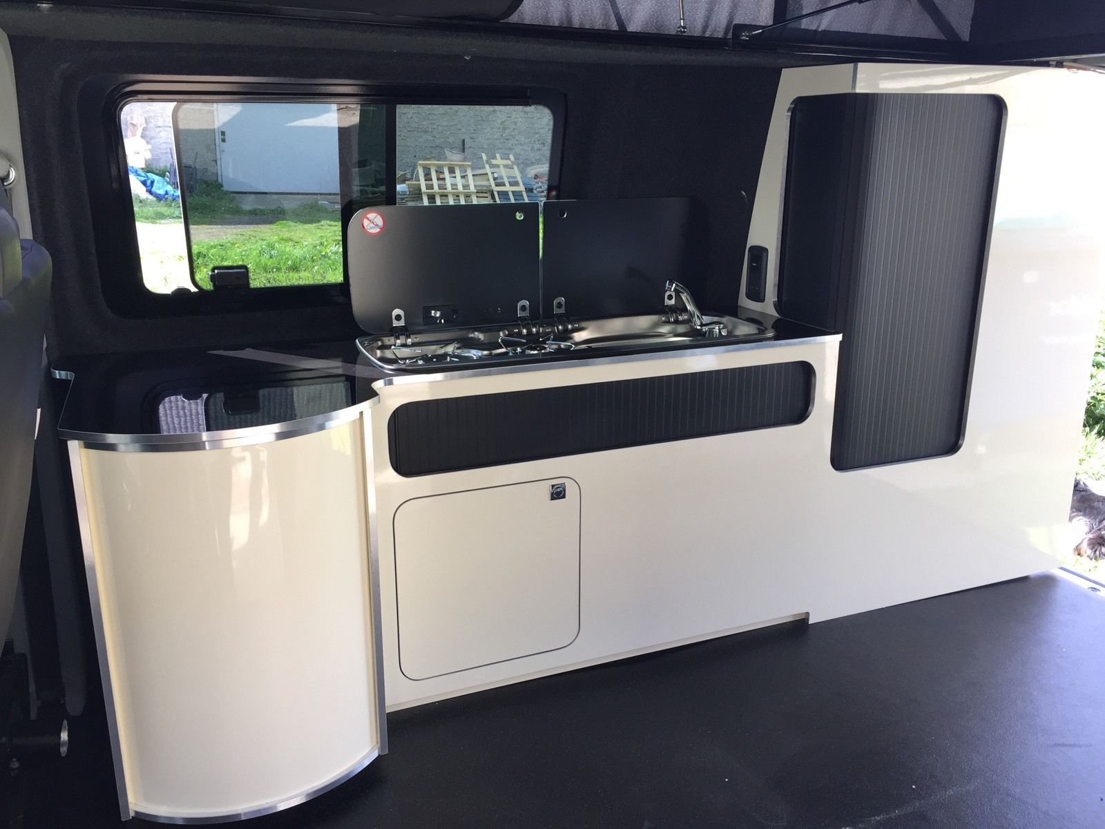 Camper campervan conversion furniture units for swb for Camper van kitchen units