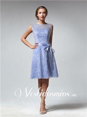 Vintage Vestidos con Encaje de Dia para Fiesta Corto VP244